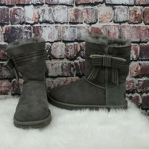 Ugg Gray Bow Boots